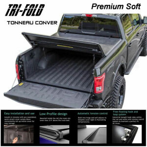Fits 2007 2013 Gmc Sierra Premium Soft Lock Tri Fold Tonneau Cover 6 5 Ft Bed