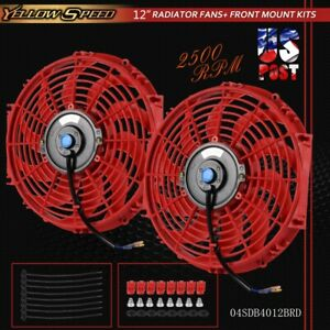 Fit For Universal Slim 12 High Performance Radiator Cooling Fan Mounting Kit