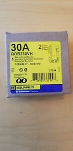 New In Box Square D Qob230vh Bolt on Circuit Breaker 30a 2 Pole 120 240v 22 K