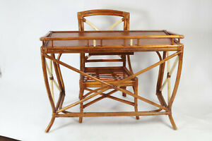 Vintage 1930s Califirnia Hawaiian Style Old Letter Table Chair Set Patina