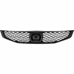 For 2009 2010 2011 Honda Civic Coupe Front Grille Mat Black