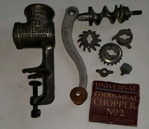 Vintage Universal No 1 2 Hand Crank Food Chopper Meat Grinder Lot 1890s