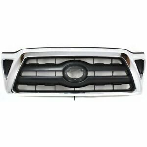 For 2005 2006 2007 2008 2009 2010 Toyota Tacoma Front Grille Chrome black