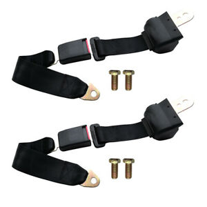 2 Point Retractable Adjustable Universal Auto Car Shoulder Safety Seat Belt Usa