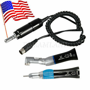 Dental Low Speed Handpiece Contra Angle Straight Electric Motor 35k Rpm Yabang