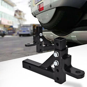 Adjustable Ball Mount Trailer Drop Hitch Tow 2 Receiver Towing 8 Positions Us
