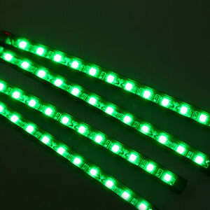 4x Green 12led Car Suv Footwell Interior Floor Dance Party Atmosphere Lights 12v