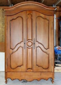 Habersham Walnut Armoire French Country Style Wardrober Entertainment Tv Cabinet