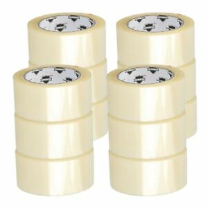 12 Rolls Carton Sealing Clear Packing shipping box Tape 2 5 Mil 2 X 110 Yards