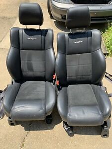2007 2010 Jeep Grand Cherokee Srt 8 Oem Driver And Passenger Front Seats Black