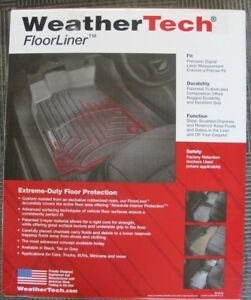 Weathertech 444331 Front Floor Liner 2012 2016 Ford F250 F350 F450 F550 Black