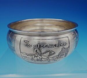 Mcchesney Co Sterling Silver Child S Bowl With Boston Scenes W13 T37 3451