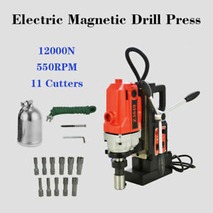 Md40 Magnetic Drill Press 11pcs 1 Hss Annular Cutter Kit Mag Drill 110v 60hz Top