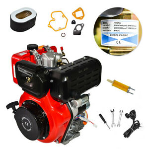 New 3600 Rpm 10hp Air Cooled Single Cylinder Diesel Engine Machine High Quality