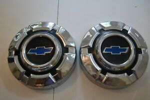 Vintage Nos 1969 72 Chevy C10 Truck Dog Dish Poverty Hubcaps Wheel Covers