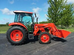 Only 60 Hours 2018 Kubota M7060 Ultra Grand Cab With La1154 Front End Loader