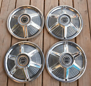 Set Of 4 1960 s Ford Mustang Hubcaps 14 Wheel Covers 65 Hub Caps Very Nice