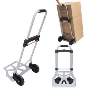 Portable Folding Hand Truck Dolly Luggage Carts 220 Lbs For Travel 02