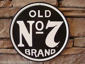Jack Daniels Sign Old No. 7 Metal 12' Round Tennessee Liquor Whiskey Beer