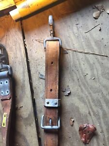 Bashlin No 88 Leather Lineman Climbing Safety Tool Belt Size D 22 Code 585