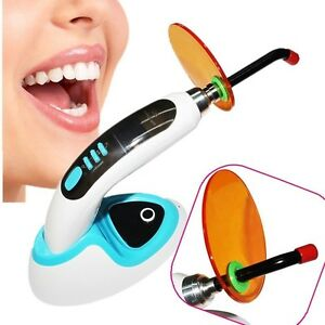 Usa 5w Wireless Cordless Led Dental Curing Light Lamp1400mw Teeth Whitening Set