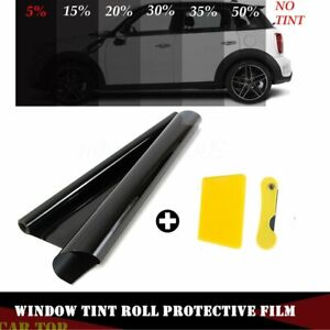 50cm X 3m Black Glass Window Tint Shade Film Vlt 5 15 25 35 Auto Car Roll