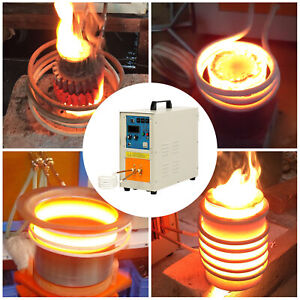 30 100 Khz 15kw High Frequency Induction Heater Furnace 2200 3992 110v