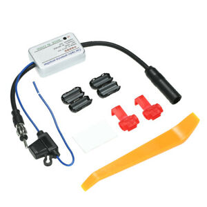 For Universal 12v Auto Car Radio Fm Antenna Signal Amp Amplifier Booster D8a8