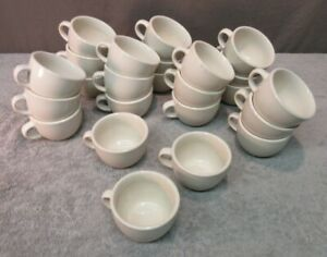 Crestware Coffee Cups Restaurant diner cafe Ware White China Tea Mug Lot