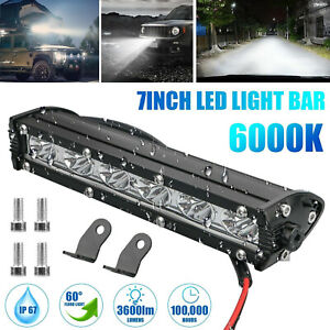 7 18w Spot Led Light Work Bar Lamp Driving Fog Offroad Suv 4wd Car Boat Truck