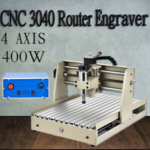 4 Axis Cnc 3040 Router Engraver Engraving Machine Wood Mill drill 400w Engraving