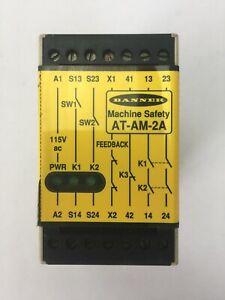 Banner At Am 2a Machine Safety Relay 115vac 100ma