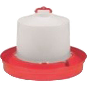 New Miller Red Poultry Waterer Deep 1 Gal