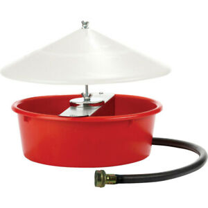 New Miller Red Little Giant Automatic Poultry Waterer 5 Quart