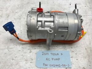 17 Tesla Model X Electric A c Ac Air Conditioning Compressor 1042442 00 j 15 19