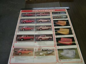 Nos Oem Ford 1980 F150 Truck Dealership Display Options Poster Pickup