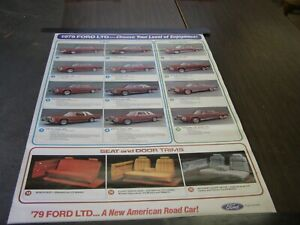 Nos Oem Ford 1979 Ltd Dealership Display Options Poster Crown Victoria