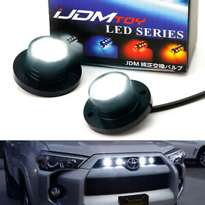 White Led Surface Flush Mount Spot Light Kit For Car Truck Suv 4x4 Side Markers