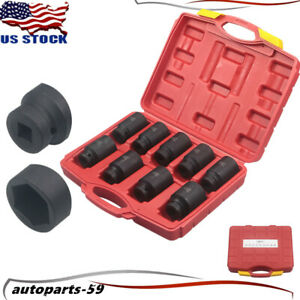 9pcs Deep Impact Socket Set 1 2inch Drive Metric Axle Hub Nut Socket 29mm 38mm