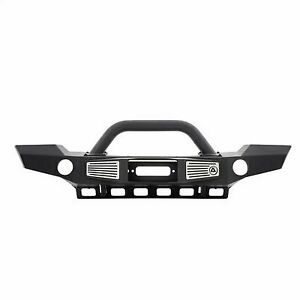 Smittybilt Xrc Atlas Front Bumper With Grill Guard And Fog Light Holes 76892
