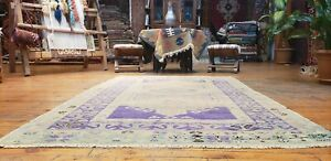 Exquisite Antique Cr1940 1950 S Wool Pile Muted Dye Oushak Rug 3 9 6