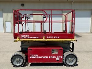 2012 Mec 2659ert Electric 4x4 Rough Terrian Scissor Lift Manlift Boomlift Man