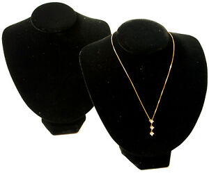 2 New Black Velvet Necklace Jewelry Display Busts 8