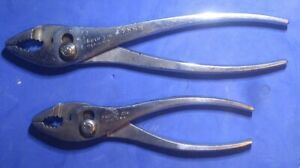 Proto Tools Pliers No 276 278 Slip Joint Pliers 2pc Vintage Hand Tool Lot Usa