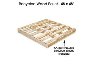 Recycled Wood Pallets 48 X 48 10 Pcs