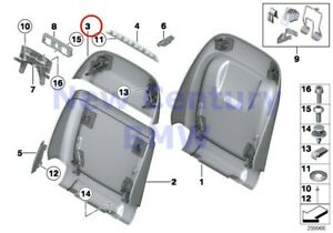 2 X Bmw Genuine Front Seat Tail Trim Upper Comfort Seat Rear Section Lcsw Schwar