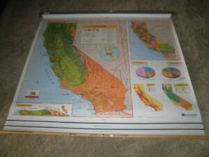 Nystrom 1mr991 Pull Down California World U S A School Map Markable Home Charter
