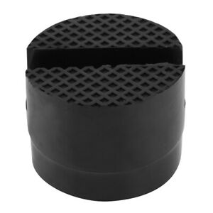 Slotted Rail Floor Jack Disk Rubber Pad Adapter For Pinch Weld Side Jackpad
