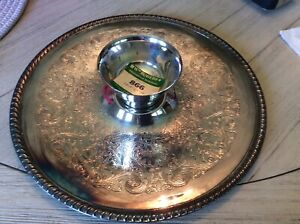 Vintage William Rogers Silver Plated Chip And Dip Platter Number 866