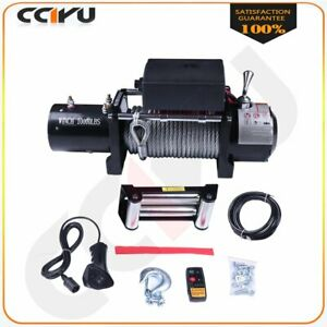 10000lb Winch 12v Roller Fairlead 80 3 8 Steel Wire Cable Rope For 02 10 Hummer